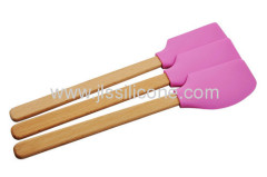 12.5 inch silicone scraper head and wood handle