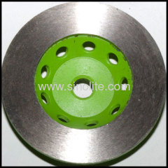 continuous diamond segemented cup grinding wheel