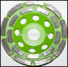 double cutters diamond cup grinding wheel