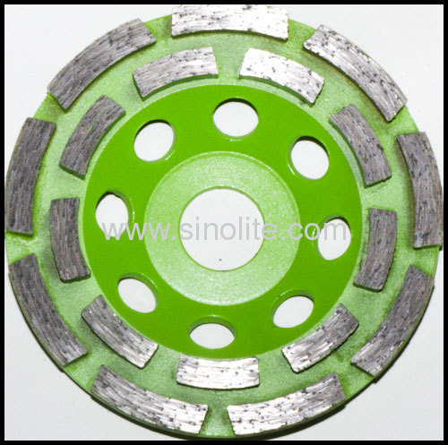 Diamond cup grinding wheel double cutter