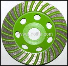 Cup grinding wheel diamond segmented