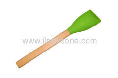 long wood handle silicone rubber kitchenware spatual