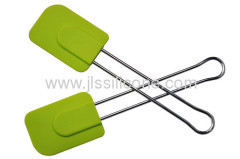 stainless steel handled silicone baking tool scraper in middle size