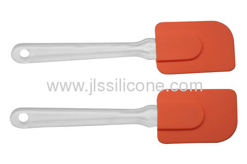 Plastic handled silicone scraper for baking and kitchen tools