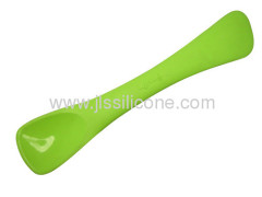 Combined silicone spatula and spoon bakeware tool