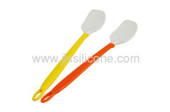 flexible silicone kitchenware plastic handled silicone scraper