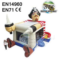 Inflatable Foot Bouncer Pirate