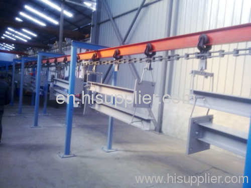 frame powder coating line