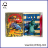 Disney sipral notepad/notebook/stenopad set with pen college ruled