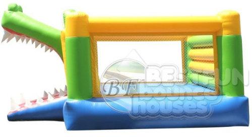 Inflatable Alligator Slide And Bouncer