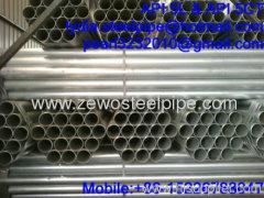 SCH40 GALVANIZED STEEL WELDED PIPE