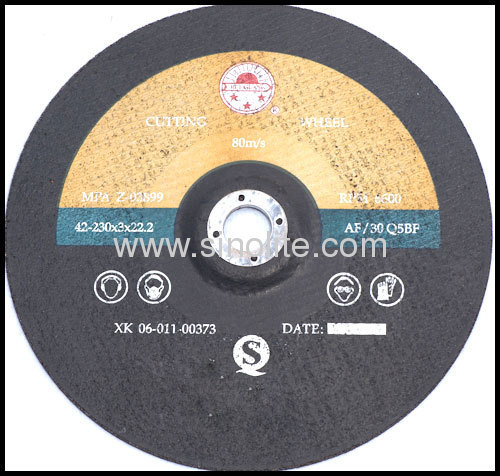 Cutting disc for non-ferrous metal