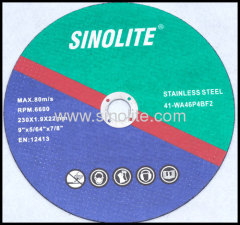 Cutting Disc for stainless steel AWA 46 Q resin-bonded reinforced abrasives