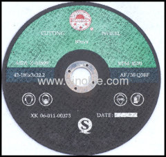 Cut disc for normal steel A24R resin-bonded reinforced abrasives