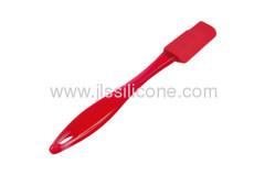 Fantastic silicone kitchen utensil silicone spatula with red plastic handle