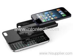 Detachable Sliding & Standing BT Keyboard Case for iPhone 5