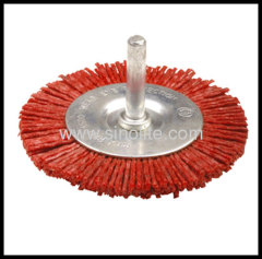 Nylon Wheel Brush with shank D:40/50/63/75/100mm W:6mm