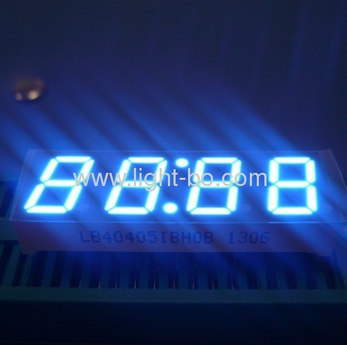 High brightness 4 Digit 7 Segment LED Clock Display, Various character height and colour available