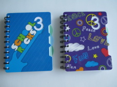back to shcool subject spiral notebook