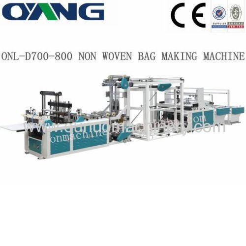 Non Woven D-cut Bag Making Machine Price