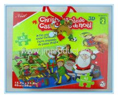 45-Piece Colouring Cartoon 3D Christmas Puzzle