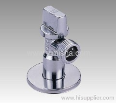 Brass Ball Core Unidirectional Chrome Plated Manual Triangle Valve with Rectanglular Handle