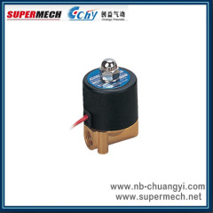 2 way direct acting brass liquid 12V solenoid valve 24V