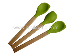 Value for money kitchen tools silicon scoop with wood handle