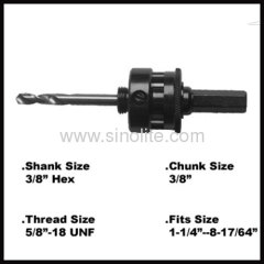 "Heavy duty 3/8"" hex shank arbor"