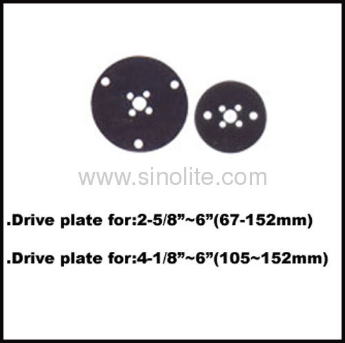Drive plate used with arbor and HSS bimetal hole saw