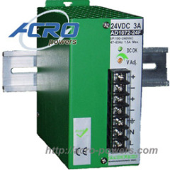 Lead-Acid Battery Charger, 72W, Single Output, 3-stage Control