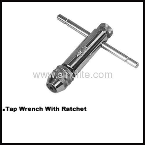 Tap wrench with ratchet