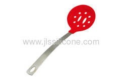silicone scoop slotted spoon