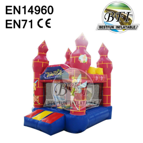 Mini Size Toddler Tinkerbell Inflatable Children Castle
