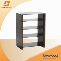 Four shelves MDF wood and Glass TV Stand