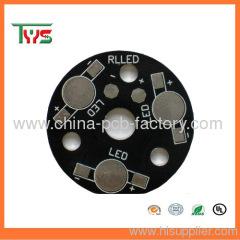 Single layer aluminum material PWB