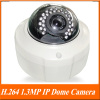 H.264 1.3MP 1/2.5'' CMOS 30Leds IR Vision 15-20m IR IP network Camera.