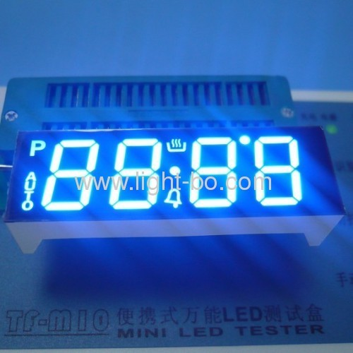 OEM/DOM Ultra Bright Blue Four-Digit 7-Segment LED Display for Digital Oven Timer Control