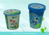 paper yogurt cup ice cream bowls with food grade ink and paper