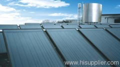 flat plat solar water heater project, solar hot water project, lager liter solar equipment