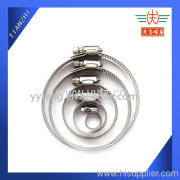 Worm drive hose clamp are safe and secure