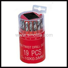 HSS Twist Drill 19pcs B (1-10x0.5mm)