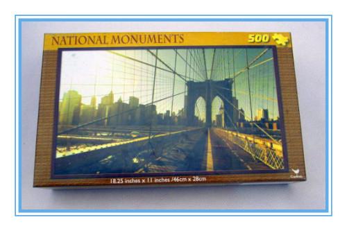 customized 500 pieces mini jigsaw puzzle