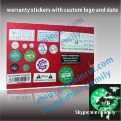 One Time Use Security Stickers