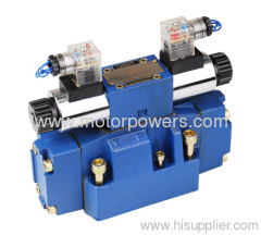Manual override electro-hydraulic directional control valve