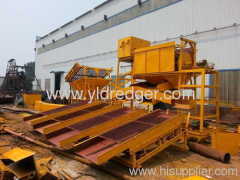Placer trommel gold wash plant