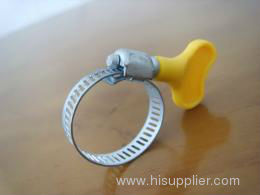 Worm Drive Hose Clamp with Thumb Screw