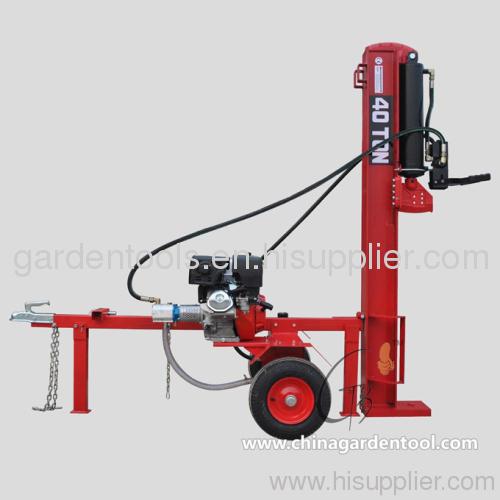 log splitter , gasoline power