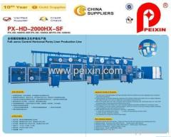 Full-servo control Horizontal Panty Liner Production Line with CE certificate
