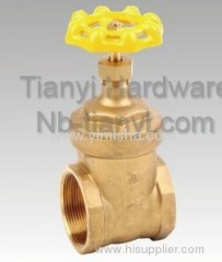 Manual Brass Yellow Color Handle Two General Formula Gate Valve for Flooding Water